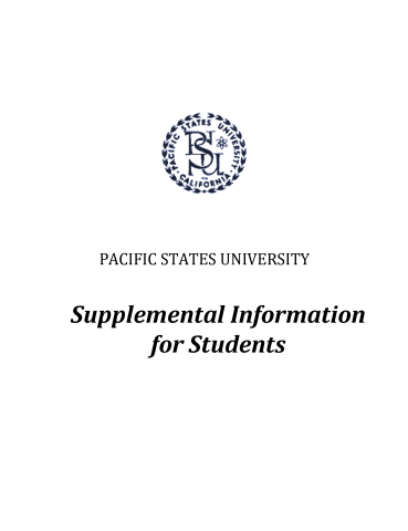 Supplemental Information for Students